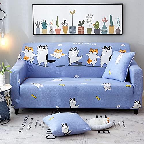 PPOS Funda de sofá elástica Funda de sofá Universal Suave Funda de sofá para Sala de Estar Funda de sofá de Estilo Decoración para el hogar Funda A1 4 Asientos 235-300cm-1pc