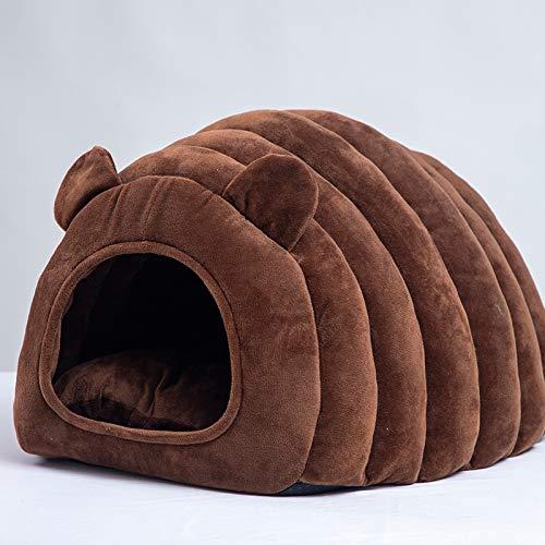 IFLKK Domestico Huis ter verbetering van de slaap in slaapkamers in woonkamer en hal Portable Pet Gordijnen Pillow, Grande 53 * 40 * 36 centimetri, Bruin