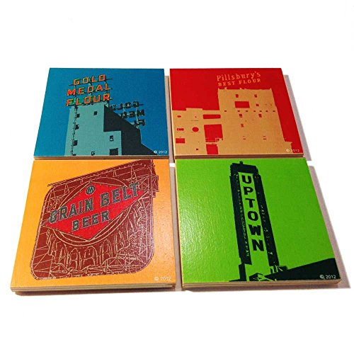 Minneapolis Handmade Wooden Coaster Set
