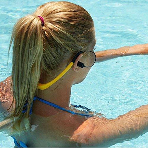 【国際防水等級IPX8】水泳イヤホンヘッドホン一体型防水MP3音楽プレーヤー8GBメモリースポーツヘッドホン水泳&温泉&シャワー&お風呂プール&運動&通勤&通学WPM8(黄色い)