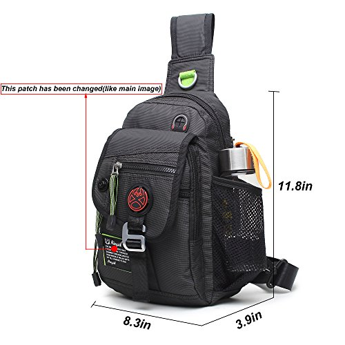 Nicgid Sling Bag Backpack Crossbody Bags For Ipad Tablet Outdoor Hiking Black