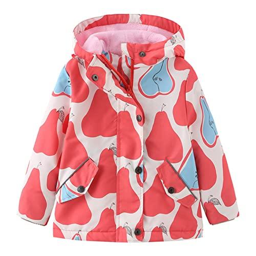 Chaqueta de forro polar para niños de invierno para niños y niñas, chaqueta de forro polar, chaqueta de estampado de dibujos animados, J, 100 cm