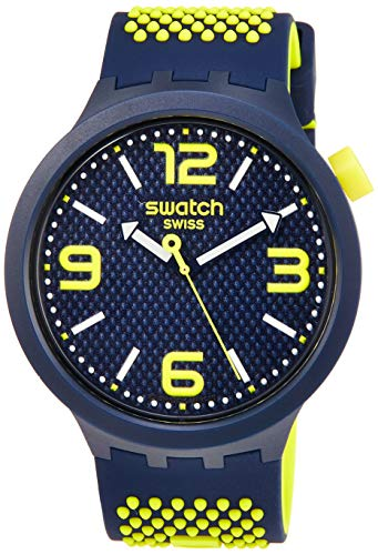Swatch Reloj Analógico para Hombre de Cuarzo con Correa en Silicona S