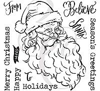 サンタクロース透明クリアシリコンスタンプ/DIYスクラップブッキング用シール/フォトアルバム装飾用クリアスタンプシートA2149