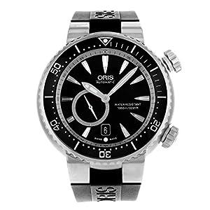 Oris Divers Titan 'C' Small Second Men's Black Rubber Strap Automatic Watch 74376387454RS image