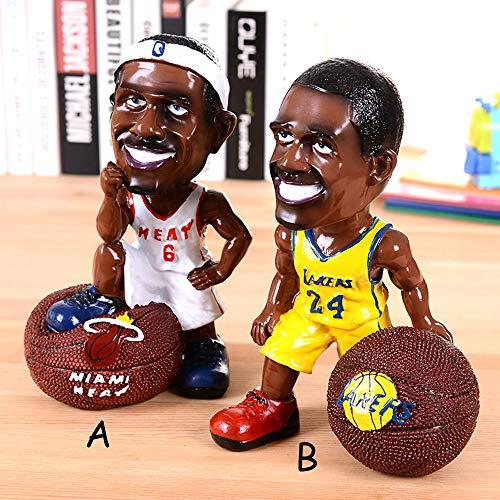 HIL Star Spardose ist nicht wünschenswert, NBA Kobe lustige Figur Basketball Harz Dekoration, Student Geschenk Geburtstag Weihnachten Neujahr Geschenk, B