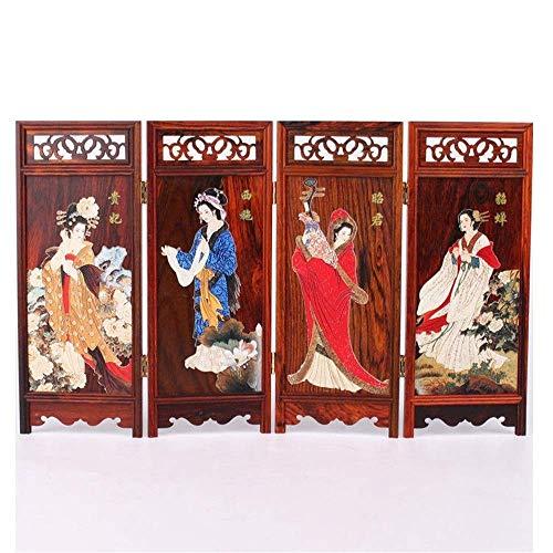 Taoke Raumteiler Bildschirmdekoration Chinesische antike Miniatur-Möbel Model Home Dekoration Folding Dekorative Bildschirm (Farbe: Foto-Farbe, Größe: 36x0.7x22.8cm) 8bayfa