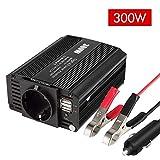eLinkSmart 300W Kfz-Wechselrichter Spannungswandler DC 12V auf AC 230V Inverter mit EU-Steckdose und...