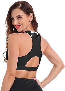 1 Pcs Top Women Sports Bra with Phone Pocket Push Up Underwear Female Gym Fitness Running Yoga Sport Bra zhengpingpai
