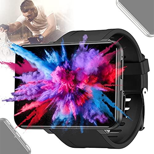 BLLJQ Reloj Inteligente Hombres Mujeres, Reloj Inteligente GPS Bluetooth, IP67 Prueba Agua, 2.86'Pantalla Táctil Color, Batería Duradera 2880mAh, con Cámara 800 W, para Teléfonos Android,Negro