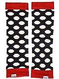 divata warme Bamboo Stulpen für Babys & Kinder - Kinderstulpen, Babystulpen für Mädchen sowie Jungs, Punkte Schwarz Weiß, 0-8 Jahre