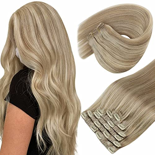 Sunny Clip in Hair Extensions Real Human Hair...