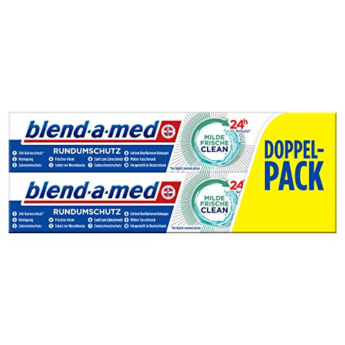 Blend-a-med Rundumschutz Milde Frische Clean Zahnpasta, 4er Pack (4 x 150 ml)