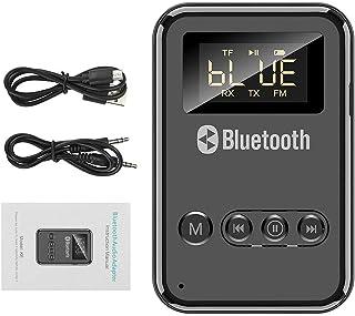 Transmissor e receptor Bluetooth 5.0, adaptador de áudio sem fio ótico digital USB de 3,5 mm para TV/sistema estéreo domés...