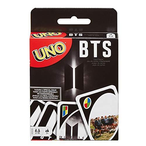 Mattel Games GDG35 - UNO BTS Kartenspiel für 2 bis 10 Spieler, Kartenspiele ab 7 Jahren, K Pop Merch