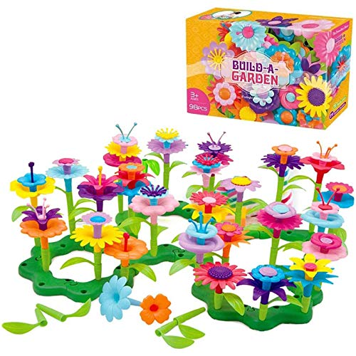 Toys for 3 Year Old Girls Boys Building Blocks Baby Flower Garden Building...