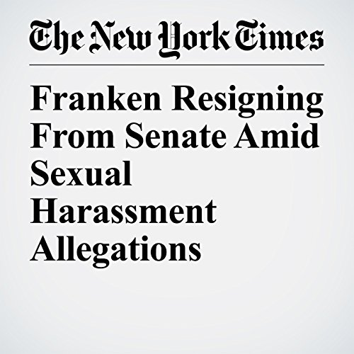 Franken Resigning From Senate Amid Sexual Harassment Allegations copertina