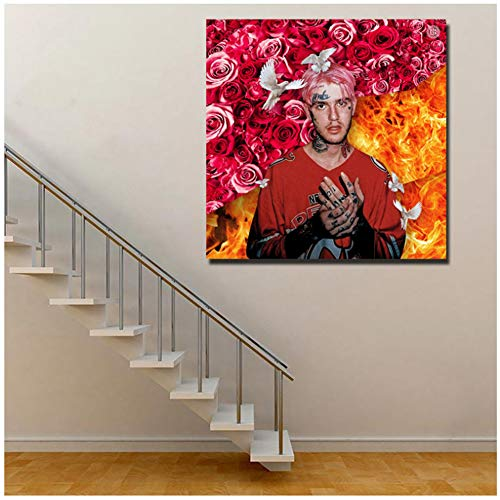 Lil Peep Gustav Album Cover Wall Art Canvas Poster and Print Canvas Painting Imagen decorativa para dormitorio moderno Decoración del hogar / 60X60cm-Sin marco
