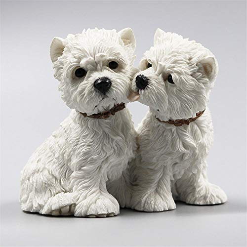 BEAUTYLE West Highland White Terrier Begleiter Familie Haustier Hund Kawaii Simulation Valentines 4 Zoll Craft Home Decoration Zubehör