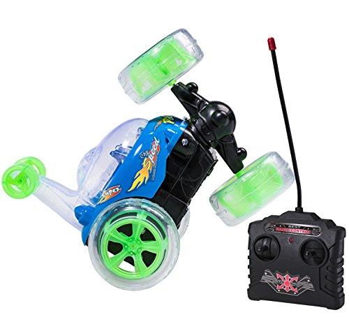 Top Race Control remoto RC Car Cyclone Twister RC niños juguete Stunt Car con luces LED y sonido musical - 49 MHz