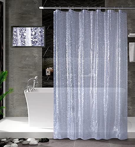 Amazon Brand - Umi Cortinas de Ducha, para baño, bañera, Impermeable, Resistente al Moho, Anti Moho e Impermeables
