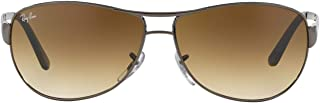 RB3342 Warrior Aviator Sunglasses, Gunmetal/Brown...