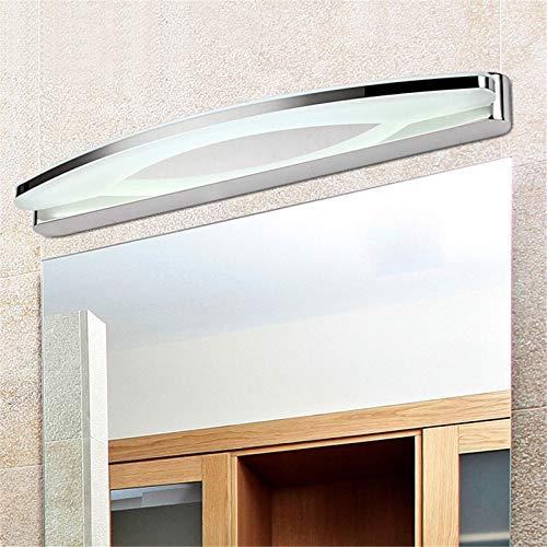 Luz LED para espejo, lámpara para espejo de baño, luz para gabinete, lámpara para inodoro de pared, IP44, 220 V, acero inoxidable, espejo de baño, iluminación frontal para espejo, gabinete de maquilla