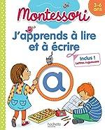 J'apprends à lire et à écrire Montessori (3-6 ans) de Claude Couque