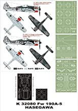 Montex Super Mask 1:32 Fw-190 A-5 for Hasegawa Kit #4 Spraying Stencil #K32080