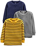 Simple Joys by Carter's - Camiseta - para bebé niño multicolor Gray/Yellow Stripe/Navy 2T