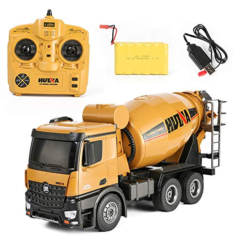 SXPC RC Truck 10 Channel 2.4G Remote Control Concrete Mixer Truck Transport Vehicle Model car Toy