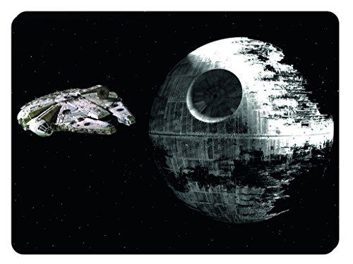 Premium Qualität Mauspad STAR WARS MILLENNIUM FALCON und Death Star