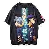 ZOSUO Unisexo Camiseta Haikyuu!! Karasuno Koukou Estampada Verano Corta Blusa T-Shirt Cuello Redondo Jersey Informal Suelto Verano Streetwear,F,XXL