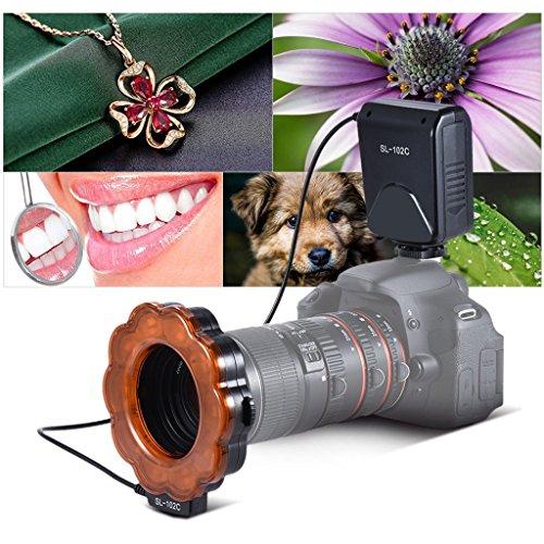 P Prettyia 6800K Makroring Flash Speedlite LED Videolicht Für Canon Kamera