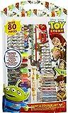 Toy Story - Juego de escritura de 80 piezas, compatible con Disney   Regalo para niños   Niñas   Pintar   Lápiz de colorear   Regla   Sacapuntas   Bloc   Trickfilm