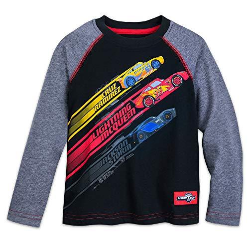 Disney Cars Raglan Shirt for Kids Size S (5/6) Black