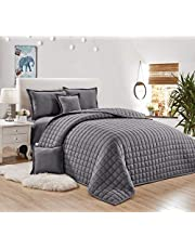 Compressed Two-Sided Comforter 6 Pieces Set,Size, By Moon, Microfiber