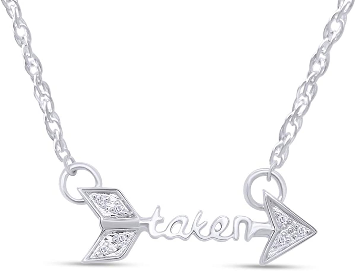 Taken Arrow Style White CZ Pendant Ste lowest price Gold Over Max 72% OFF in Necklace 14K