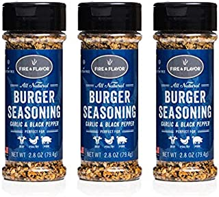 Fire & Flavor Natural Burger Seasoning, 2.8 Ounce, Pack of 3