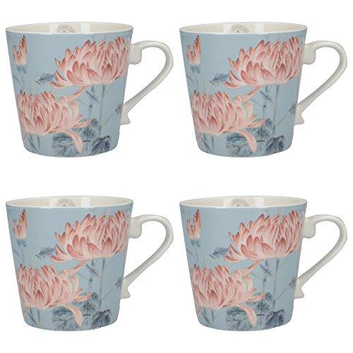 Creative Tops Royal Botanic Gardens Honzo Zufu Conico Japanese-Style Tazza, Ceramica, Azzurro, 8.5x 11.5x 10cm