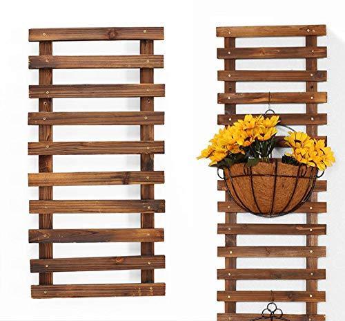 Soporte de planta de pared, maceta colgante de 23.6211.81 pulgadas para plantas de interior, estante de maceta sólido anticorrosión, percha de madera, soporte de planta, percha de suculenta de planta