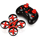 GoolRC Mini Drone with 3D Flips, Headless Mode, One Key Return, Full Protectors, H/L Speed, Anti Crush UFO RC Quadcopter(Red)