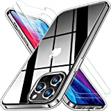 RANVOO Clear Case Compatible with iPhone 12 Pro Max Case with 2 Screen Protectors, Protective Shockproof [Full Body Protection] Cover with Soft TPU Bumper and Transparent Hard PC Back (6.7 inch)