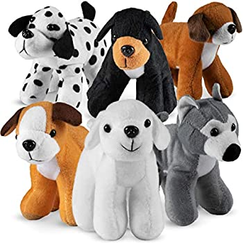 Bedwina Plush Puppy Dogs -  Pack of 12  6 Inches Tall Stuffed Animals Bulk Assorted Puppies and Cute Stuffed Plushed Dog Puppies Assortment Stocking Stuffers