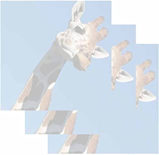 Giraffe on Blue Sticky Notes - Set of 3 - Wildlife Animal Theme Design - Stationery Gift - Paper Memo Pad - Office Business School Supplies