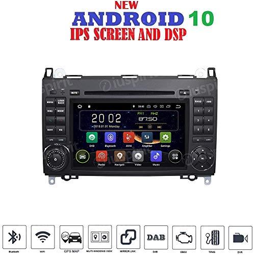 ANDROID 10 GPS DVD USB SD WI-FI Bluetooth autoradio 2 DIN navigatore compatibile con Mercedes classe B W245 Classe A W169 B200/B150/B170/A180/A150 Mercedes Sprinter/Vito/Viano