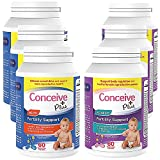 CONCEIVE PLUS His + Hers   3 Months Supply   Fertility Support Supplements Prenatal Vitamins Bundle for Couples Trying to Conceive