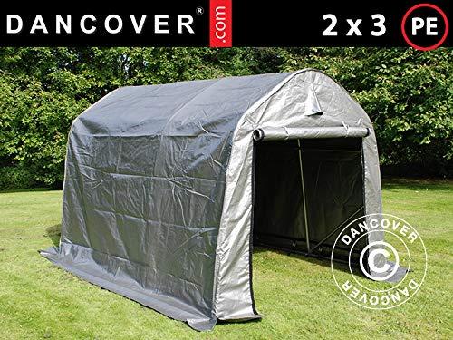 Dancover Lagerzelt Zeltgarage PRO Lagehalle 2x3x2m PE, Grau