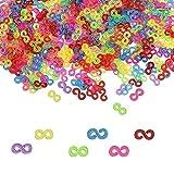 WANTOUTH 500 PCS S Clips Loom Bands Telar de Colores Ganchos para Pulseras en Forma S de Plastico Clip Pulseras de Conexión Kit Bandas de telar para Conectar Loom Band Pulseras Accesorios de Joyería