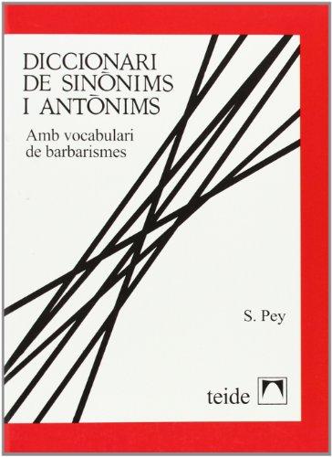 Diccionari de sinònims i antònims - 9788430773299